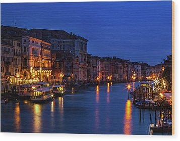 Wood Print featuring the photograph Venetian Blue by Andrew Soundarajan