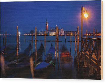 Wood Print featuring the photograph Venetian Lagoon At Twilight by Andrew Soundarajan