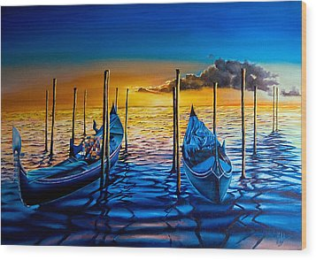 Venetian Lights 7 Wood Print