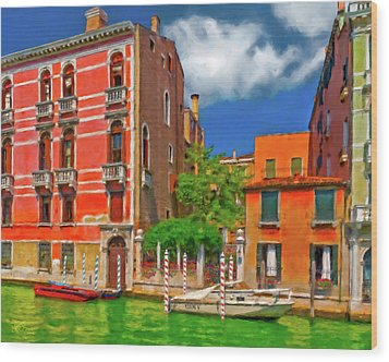 Wood Print featuring the photograph Venetian Patio by Juan Carlos Ferro Duque