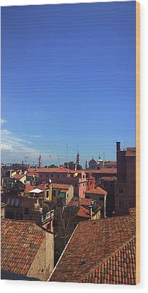 Wood Print featuring the photograph Venetian Skyline by Anne Kotan