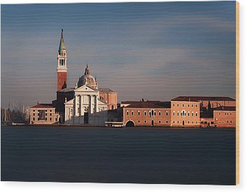 Wood Print featuring the photograph Venetian View At Dusk by Andrew Soundarajan