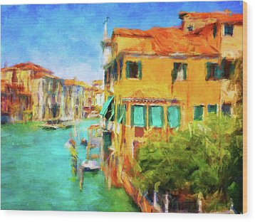 Wood Print featuring the photograph Venezia Afternoon by Connie Handscomb