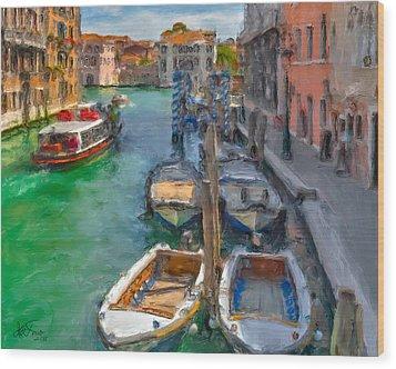 Venezia. Cannaregio Wood Print by Juan Carlos Ferro Duque