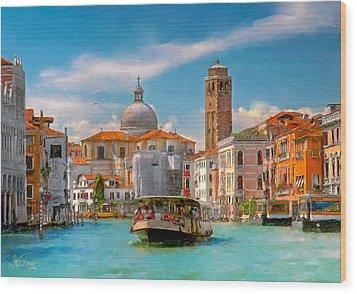 Venezia. Fermata San Marcuola Wood Print by Juan Carlos Ferro Duque