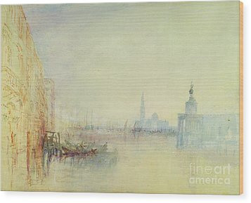 Venice - The Mouth Of The Grand Canal Wood Print by Joseph Mallord William Turner