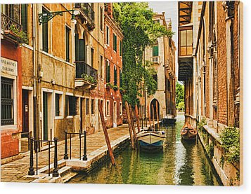 Venice Alley Wood Print