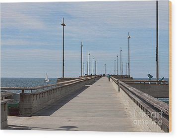 Venice Beach Pier Wood Print by Ana V Ramirez