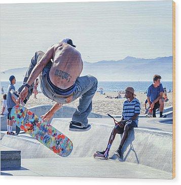 Venice Beach Skater Wood Print
