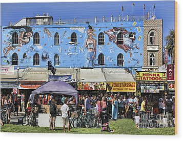 Venice Beach V Wood Print by Chuck Kuhn