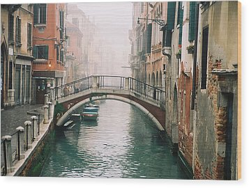 Venice Canal II Wood Print by Kathy Schumann