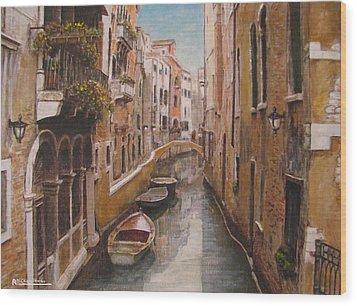 Venice-canale Veneziano Wood Print