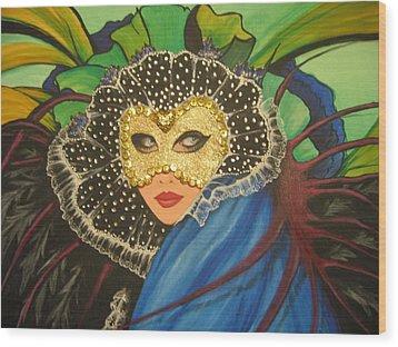 Venice Carnival 1 Wood Print