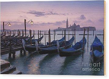 Wood Print featuring the photograph Venice Dawn II by Brian Jannsen