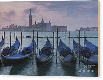 Wood Print featuring the photograph Venice Dawn IIi by Brian Jannsen