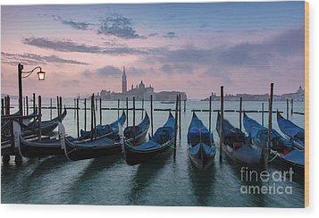 Wood Print featuring the photograph Venice Dawn Iv by Brian Jannsen