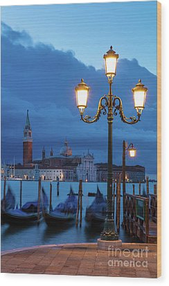 Wood Print featuring the photograph Venice Dawn V by Brian Jannsen