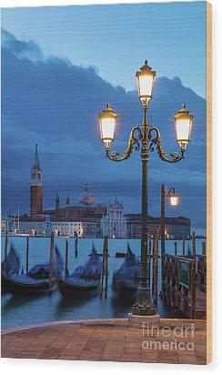 Venice Dawn V Wood Print by Brian Jannsen