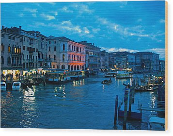Wood Print featuring the photograph Venice Evening by Eric Tressler