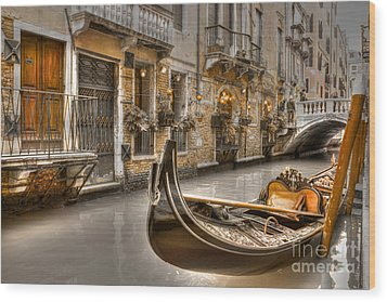 Venice Gold Wood Print