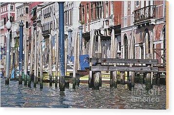 Wood Print featuring the photograph Venice Grand Canal by Allen Beatty