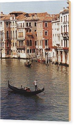 Venice Wood Print by Helga Novelli