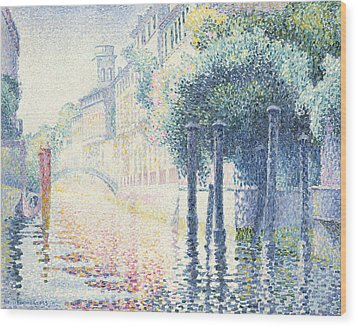 Venice Wood Print by Henri-Edmond Cross