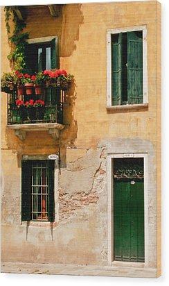 Venice Home Wood Print by Carl Jackson