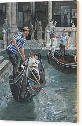 Venice. Il Bacino Orseolo Wood Print