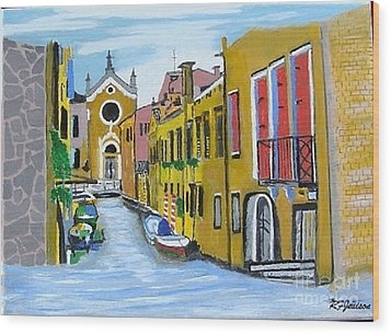 Venice In September Wood Print by Rod Jellison