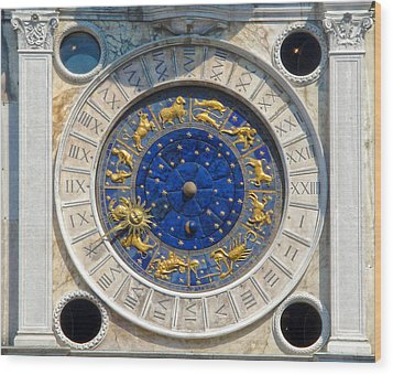 Venice Italy - St.mark's Clock Tower Wood Print by Gregory Dyer