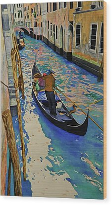 Venice Italy Wood Print by Terry Honstead