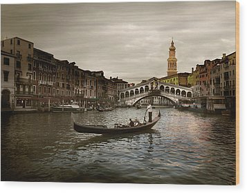 Venice Wood Print by John Hix