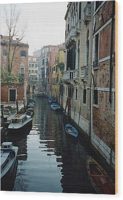 Venice Wood Print by Marna Edwards Flavell