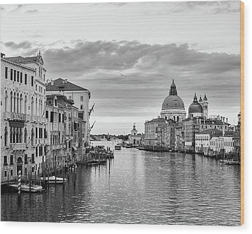 Wood Print featuring the photograph Venice Morning by Richard Goodrich