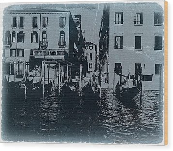 Venice Wood Print by Naxart Studio