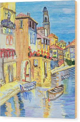 Venice On A Summer Afternoon Wood Print by Connie Valasco