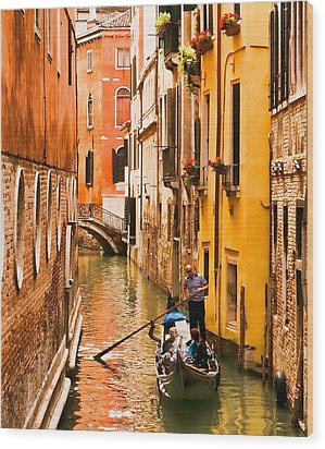 Venice Passage Wood Print