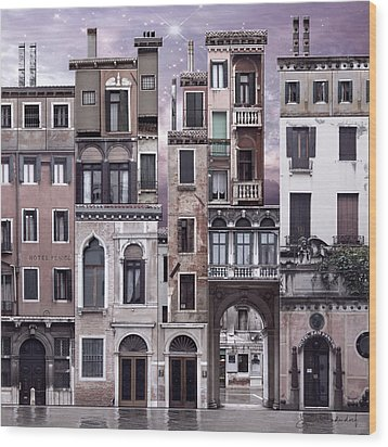Venice Reconstruction 1 Wood Print by Joan Ladendorf