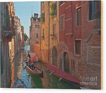 Venice Sentimental Journey Wood Print by Heiko Koehrer-Wagner