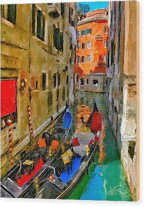 Wood Print featuring the photograph Venice. Splendid Svisse by Juan Carlos Ferro Duque