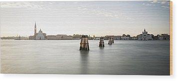 Venice Sunrise 00365 Wood Print by Marco Missiaja