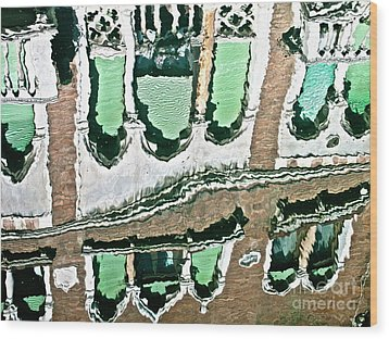 Venice Upside Down 2 Wood Print by Heiko Koehrer-Wagner