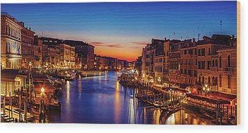 Wood Print featuring the photograph Venice View At Twilight by Andrew Soundarajan