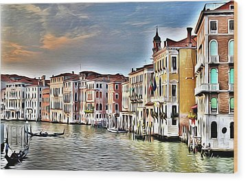 venice waterscape Art Prints Wood Print