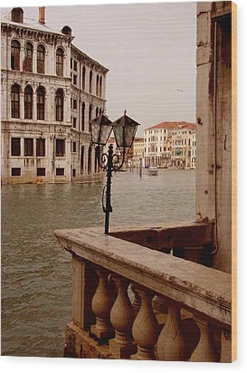 Wood Print featuring the photograph Venice Waterway by Nancy Bradley