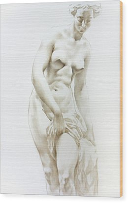 Wood Print featuring the painting Venus 1a by Valeriy Mavlo