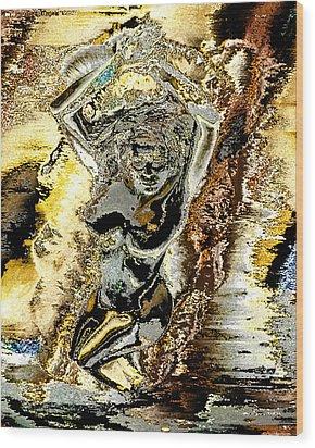 Venus Emerging From The Waves Wood Print by Peter Lloyd