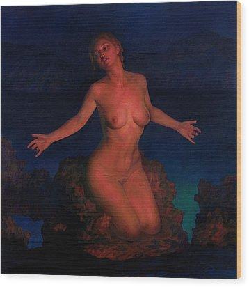 Venus Wood Print by Michael Newberry