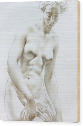 Wood Print featuring the painting Venus1b by Valeriy Mavlo